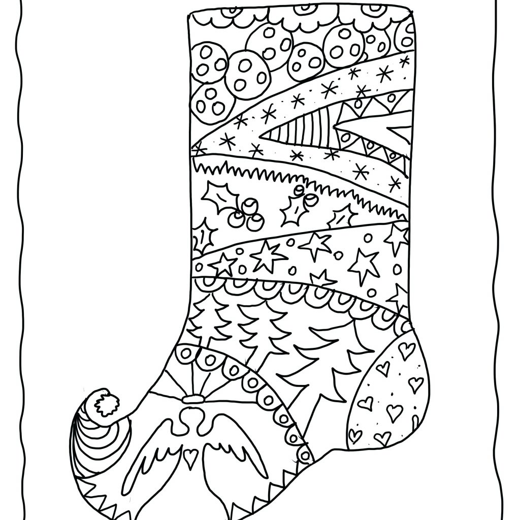 Coloring Pages For Christmas Adults With Collection Of Colouring Printable Free