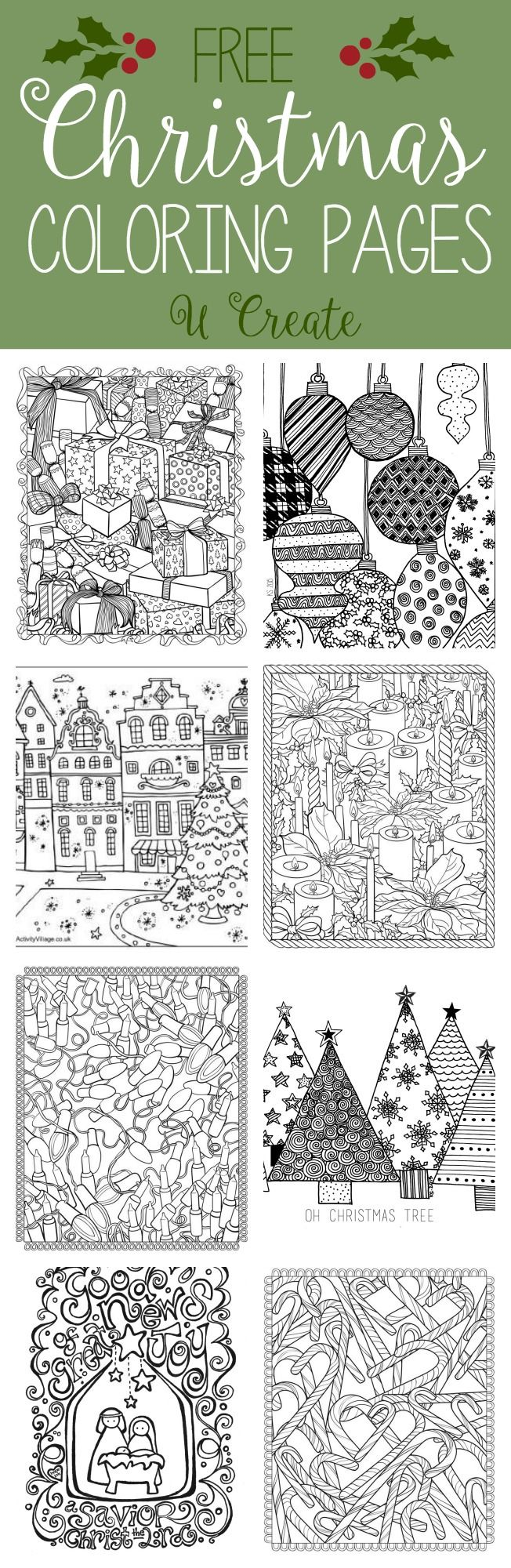 Coloring Pages For Christmas Adults With Free Adult U Create Projects To Try