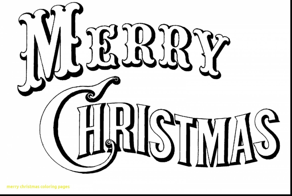 Coloring Pages Of Merry Christmas With Color Ironenclave Com