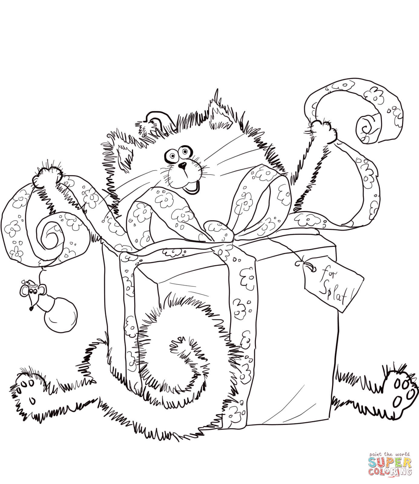 Coloring Pages Of Merry Christmas With Splat Page Free Printable