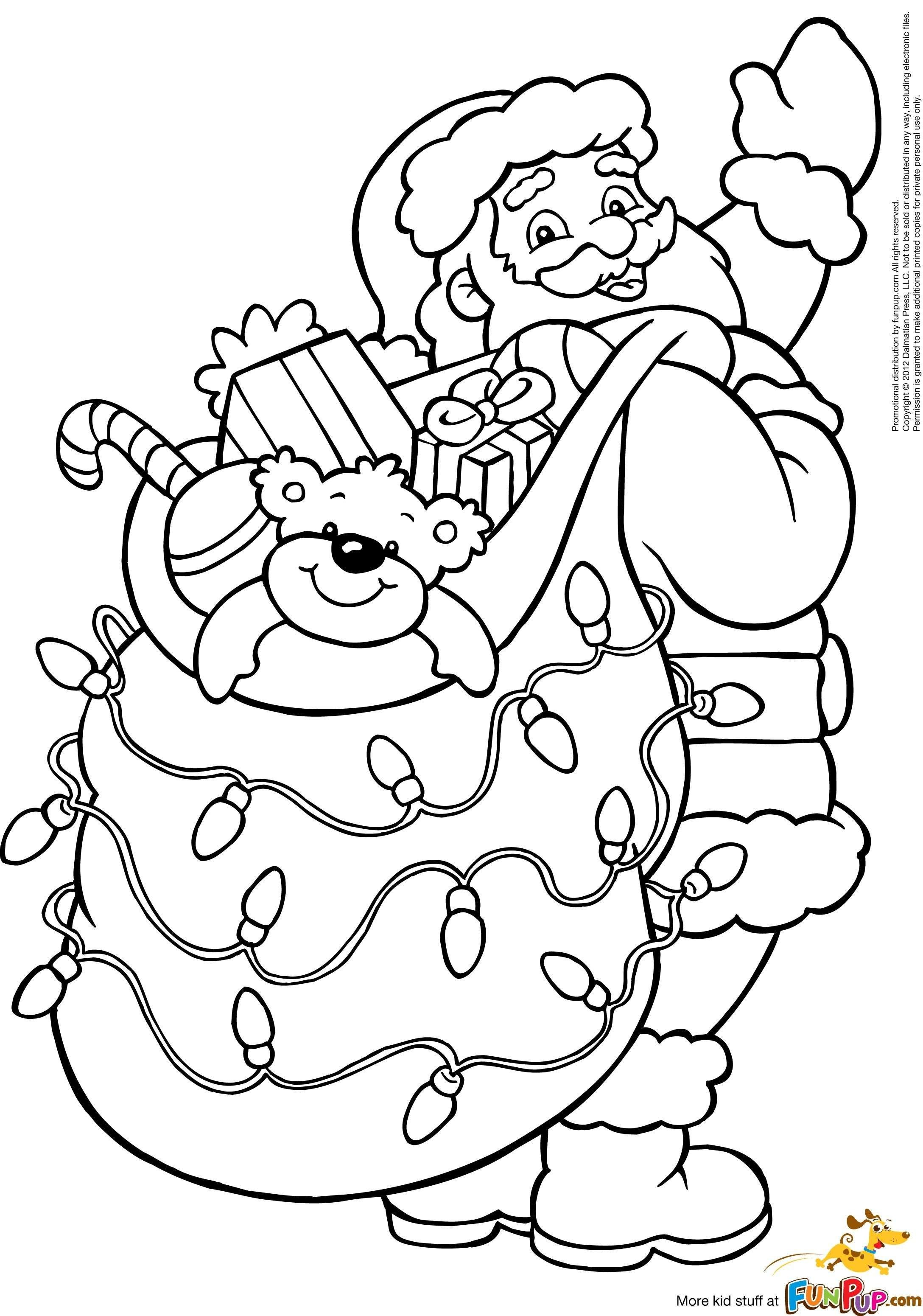 Coloring Pages Of Santa Claus For Kids 6 With Christmas New
