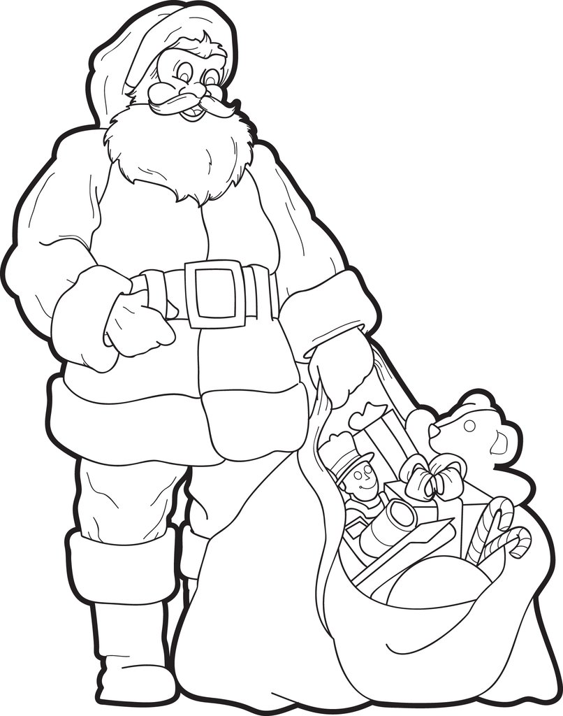 Coloring Pages Of Santa Claus For Kids 6 With FREE Printable Page SupplyMe