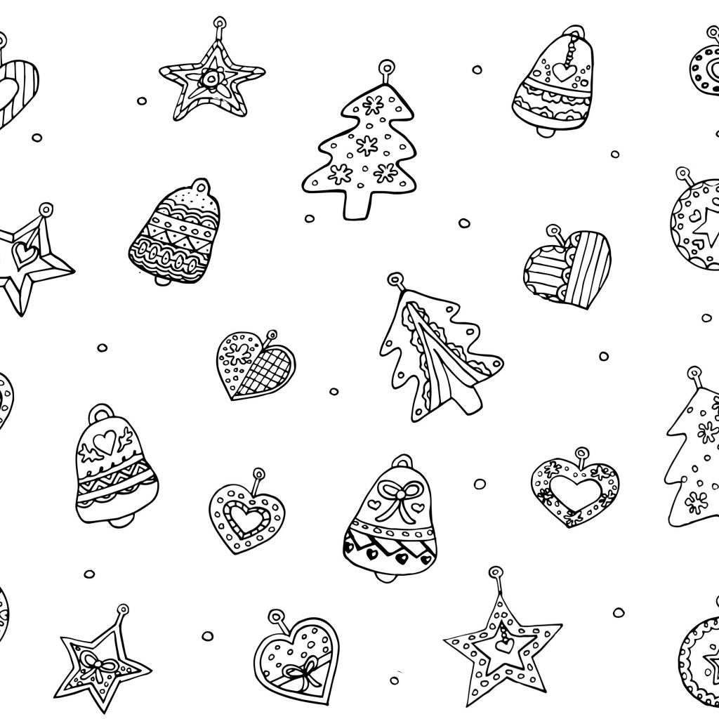 Coloring Pages With Christmas Ornaments Free