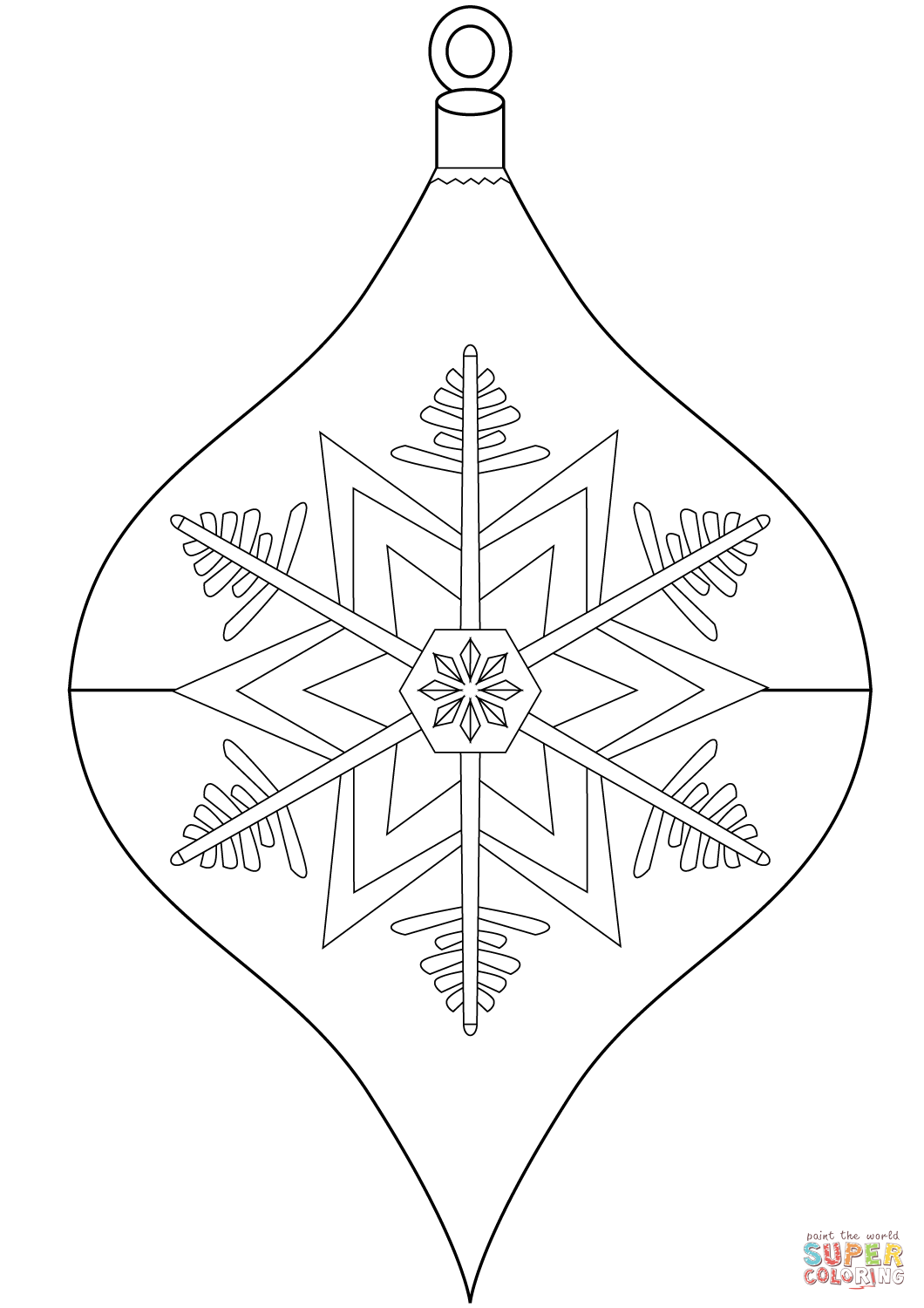 Coloring Pages With Christmas Ornaments Ornament Page Free Printable