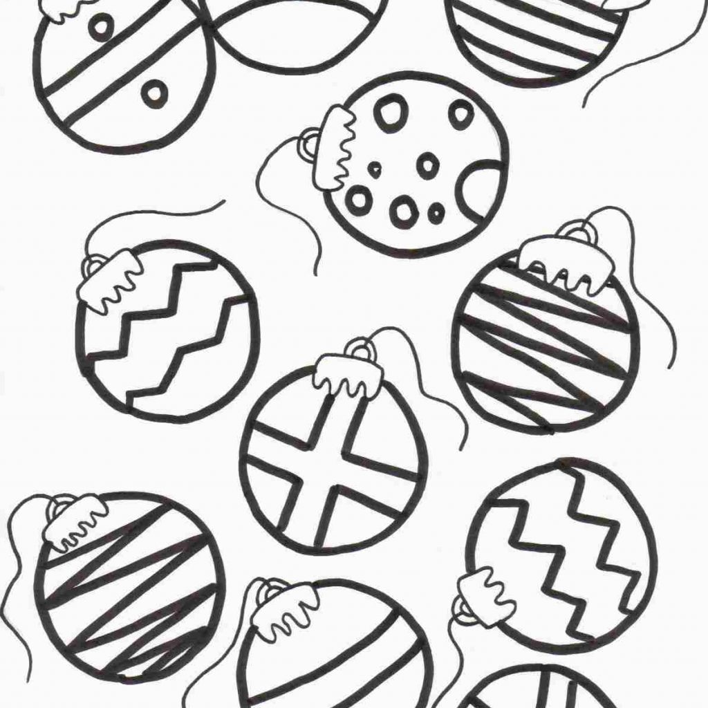 Coloring Pages With Christmas Ornaments Ornament Page Runninggames Me
