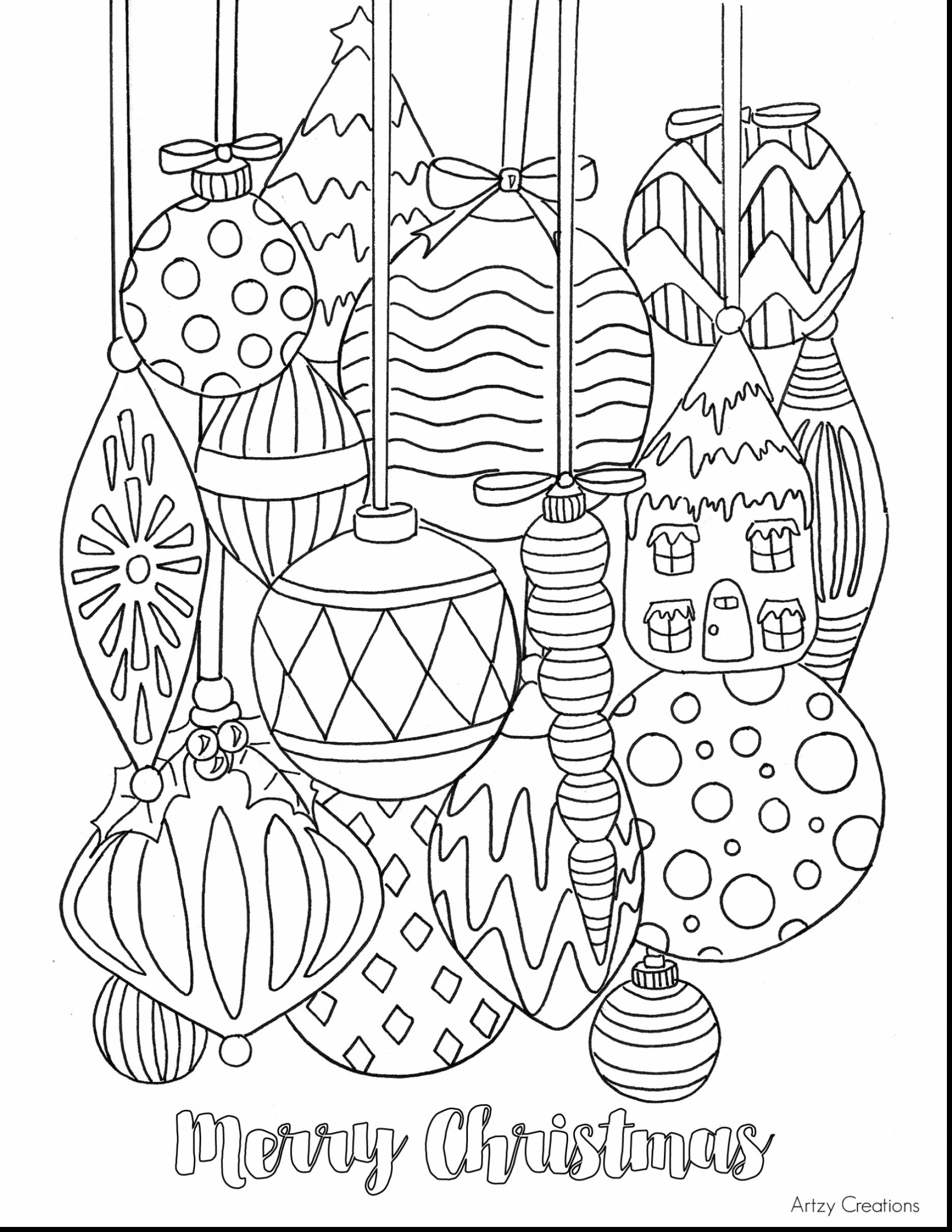Coloring Pages With Christmas Ornaments Tree For Kids 2024837