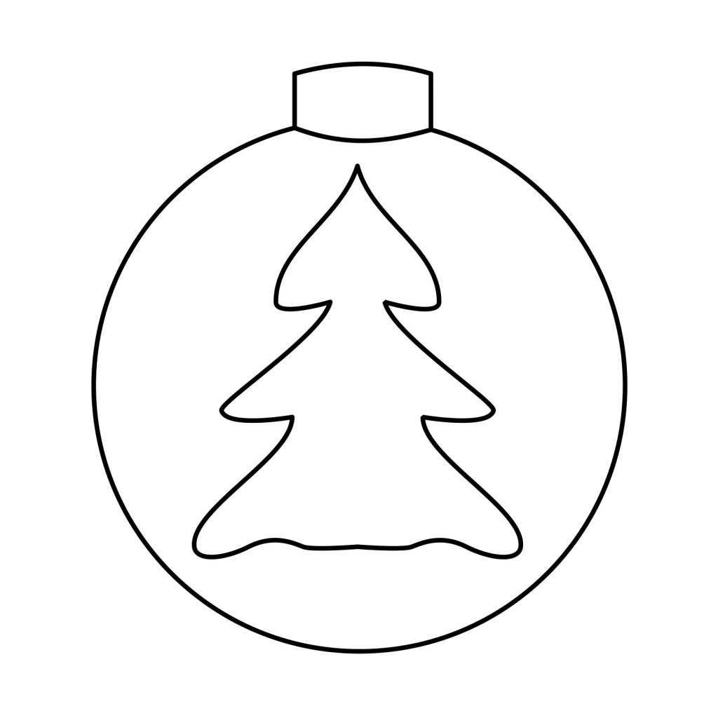 Coloring Pages With Christmas Ornaments Worksheets Save