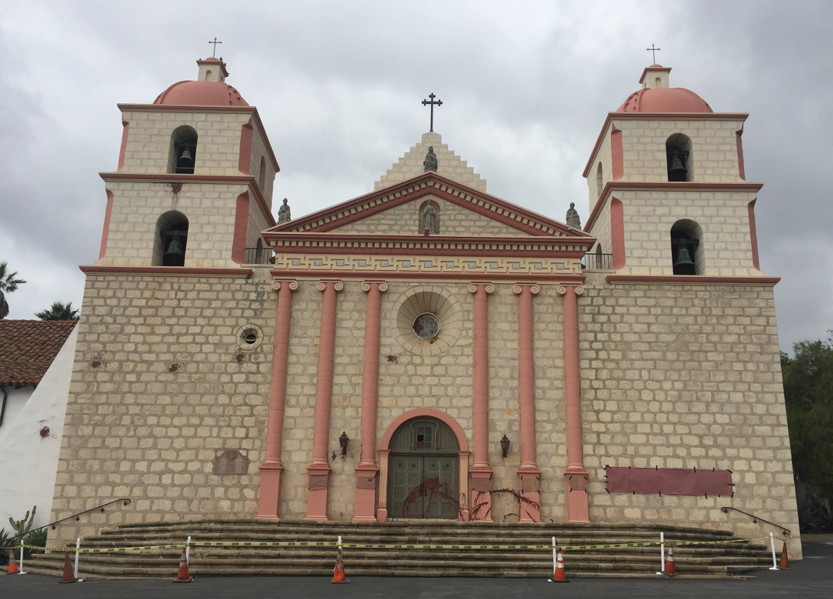 Coloring Room Santa Barbara With Old Mission Vandalized