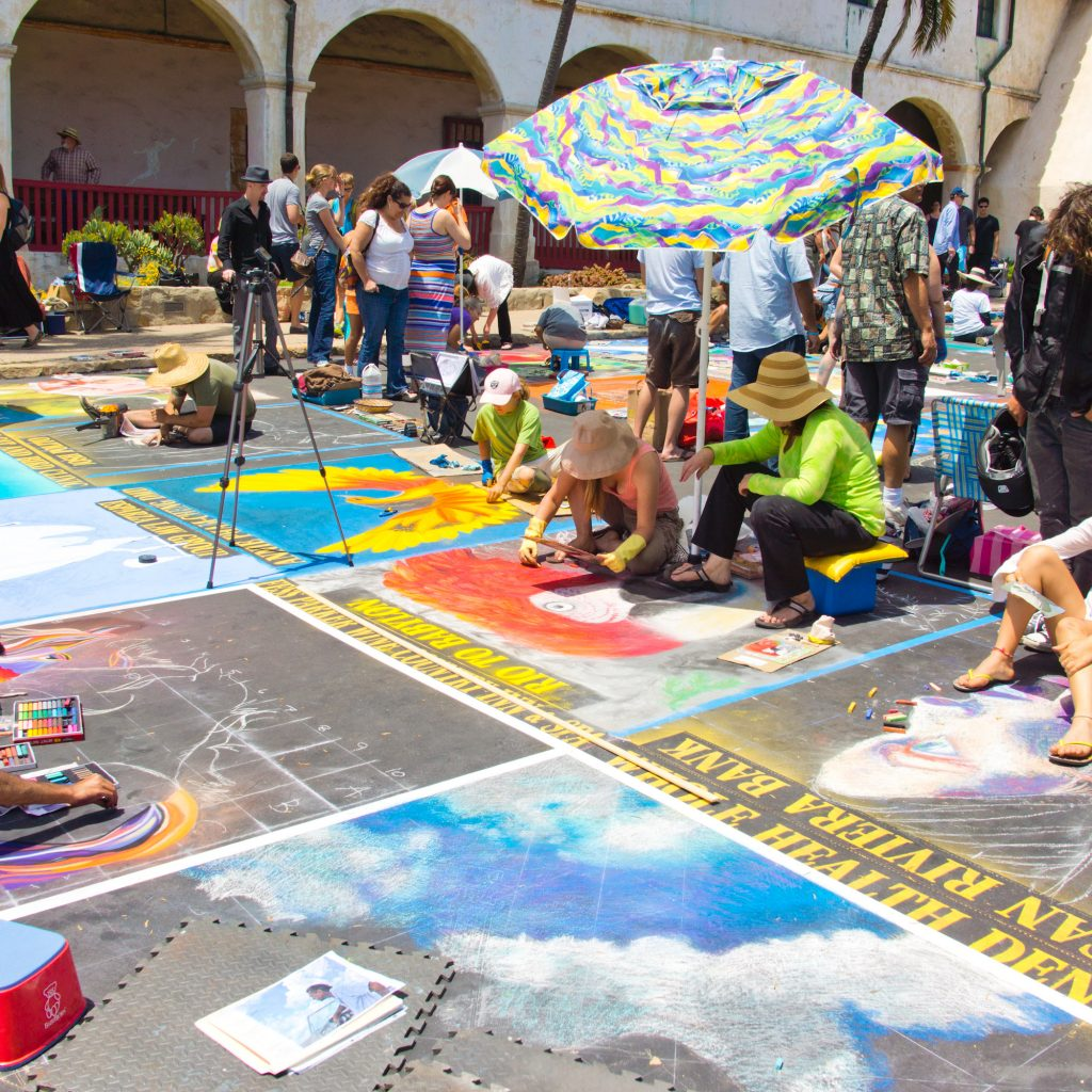 Coloring Santa Barbara With Chalk Festival Brings Color And Art To The Mission