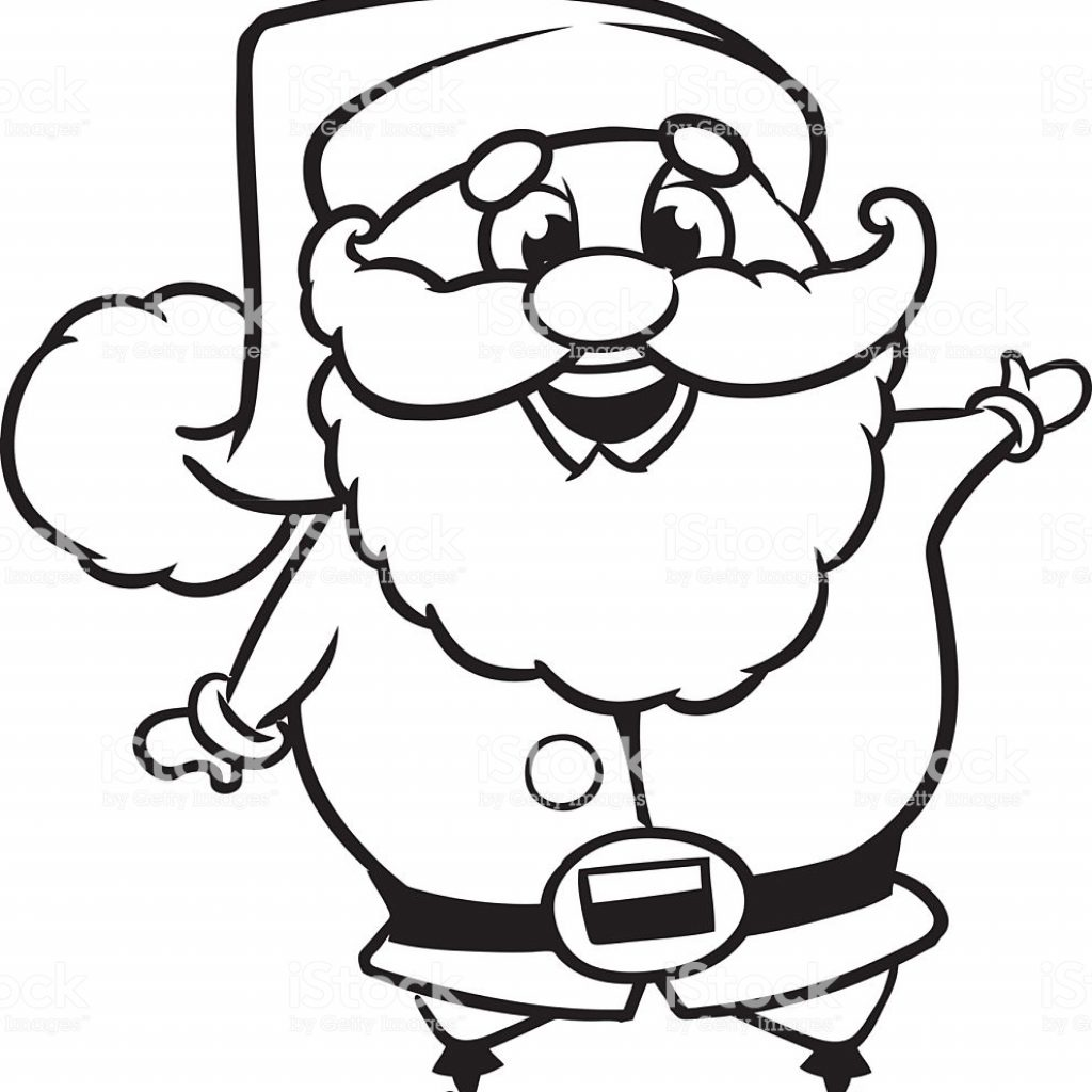 Coloring Santa Claus With Page Outline Of A Vector Character Stock