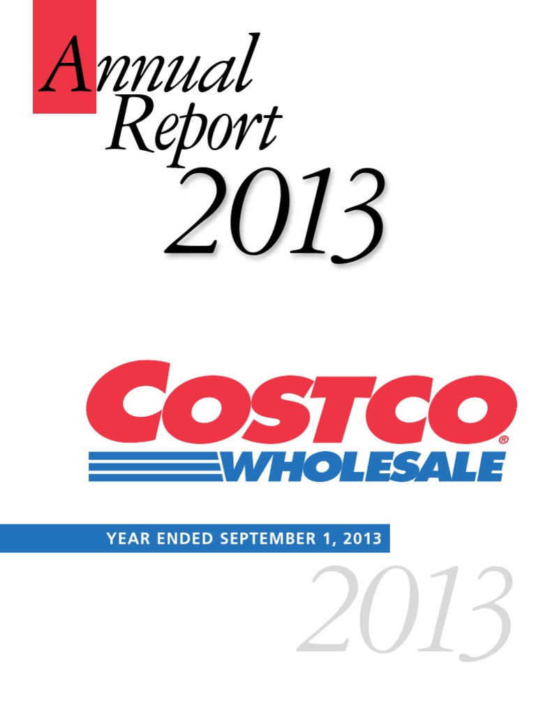Costco Fiscal Year 2019 Calendar With 2013 Annual Report Final Greenhouse Gas