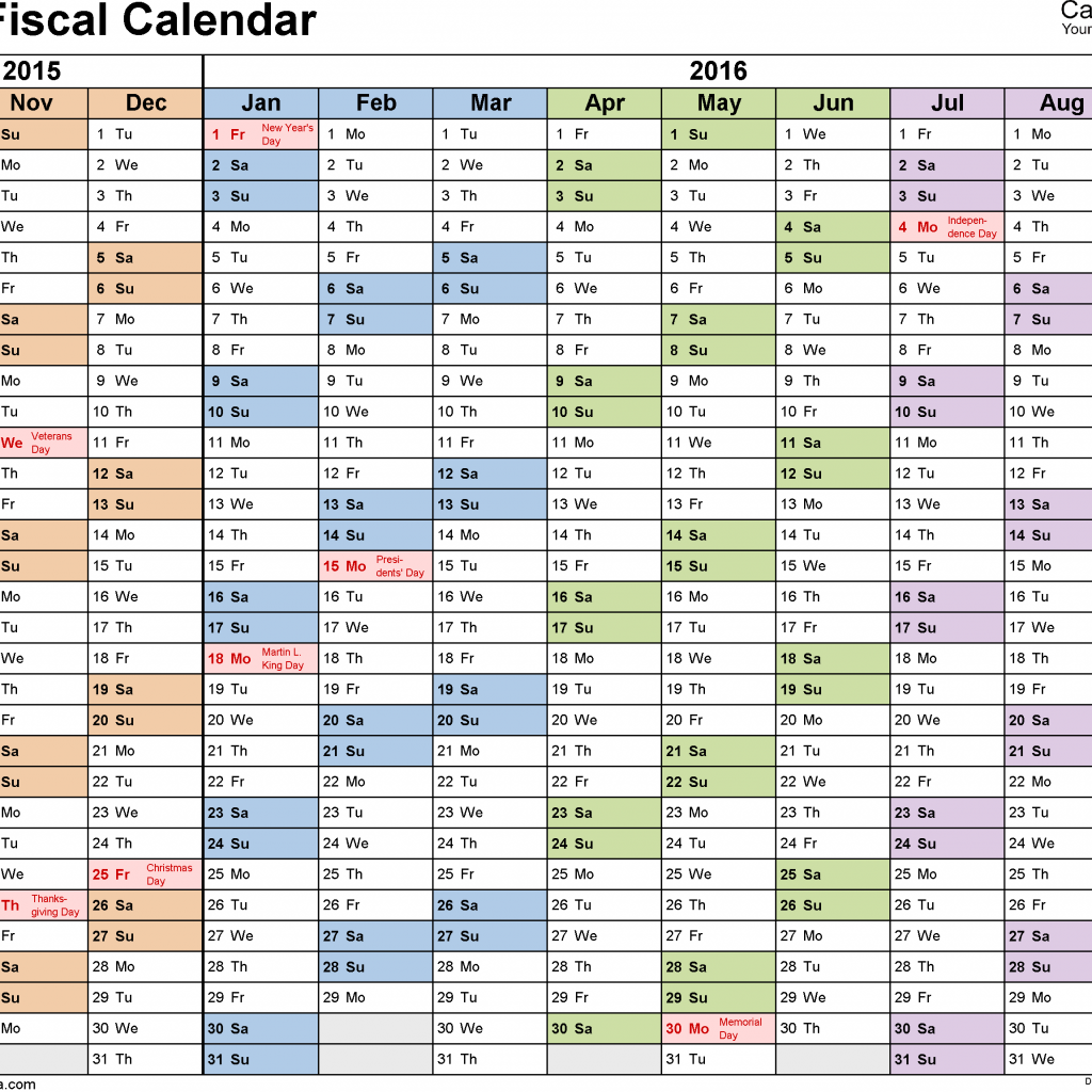 Costco Fiscal Year 2019 Calendar With Calendars 2016 As Free Printable PDF Templates