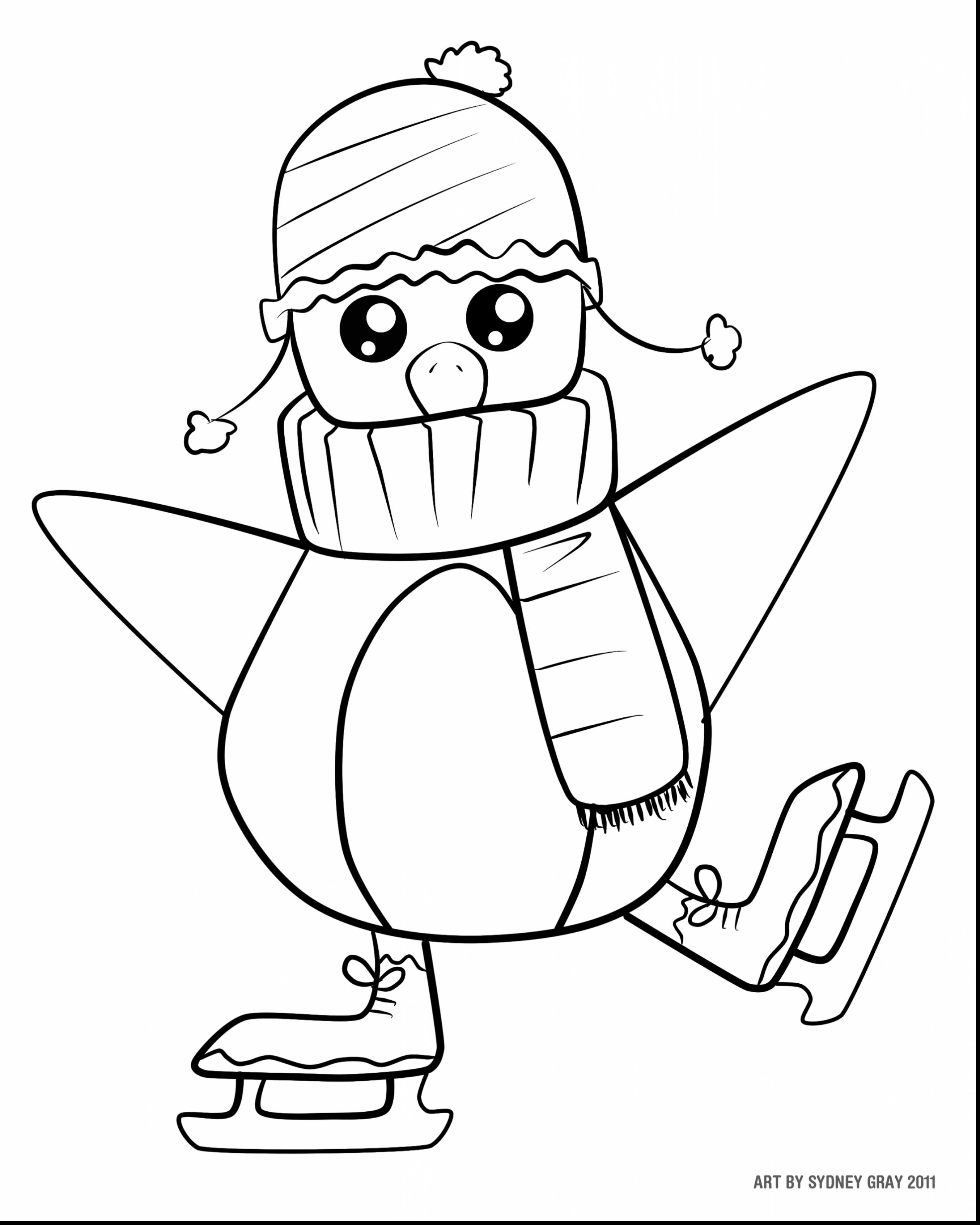 Cute Christmas Coloring Pages Printable With Penguin Free Books
