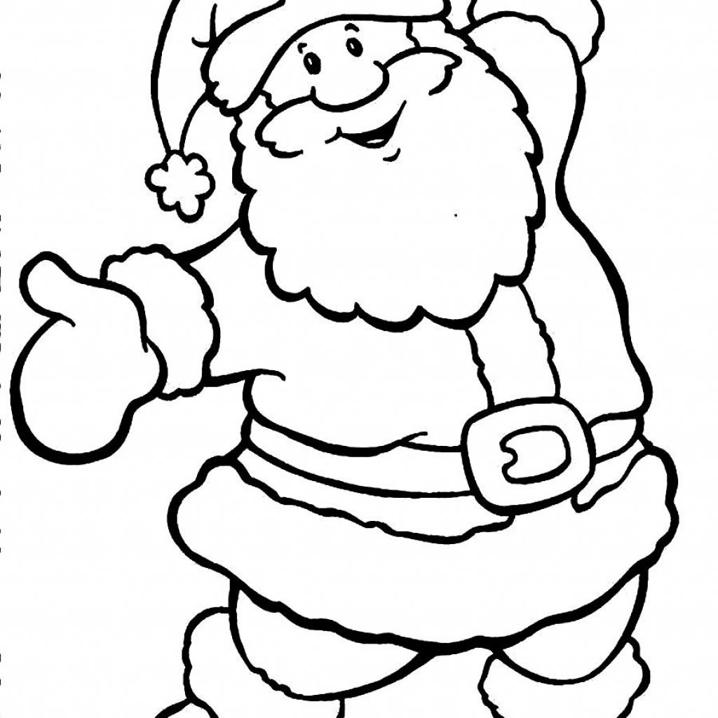 Cute Santa Claus Coloring Pages With Awesome Cartoon Design Printable