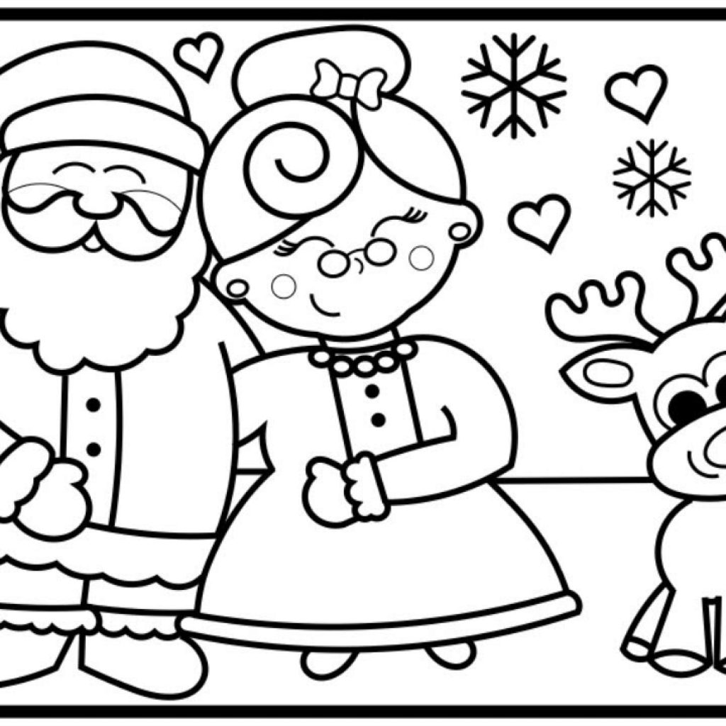 Cute Santa Claus Coloring Pages With How To Draw SANTA CLAUS And MRS Step By For Kids