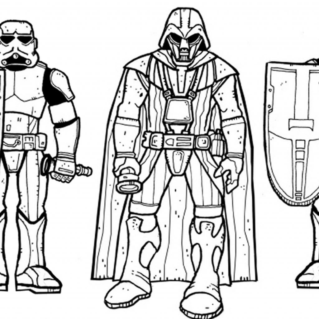 Darth Vader Christmas Coloring Pages With Best