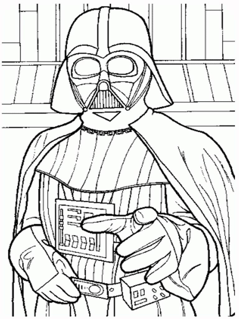 Darth Vader Christmas Coloring Pages With Free Printable Star Wars Kids