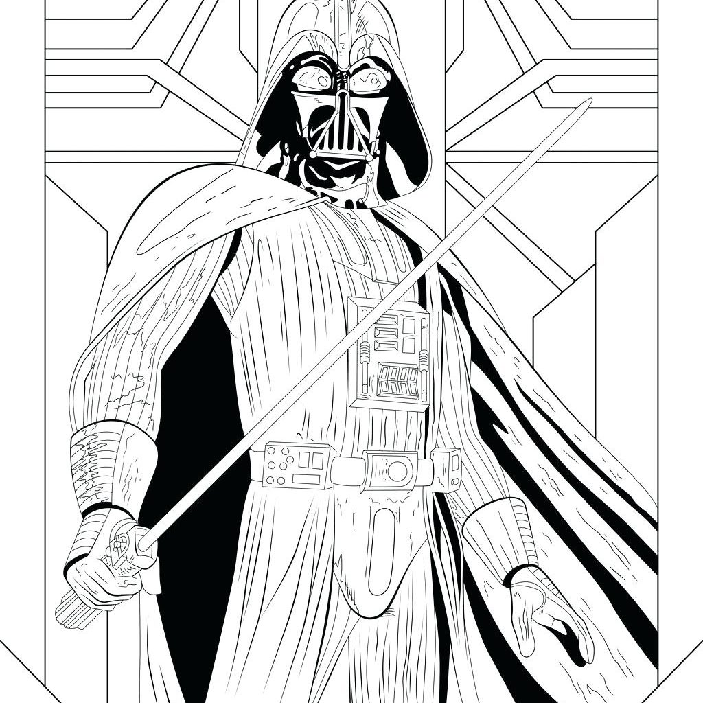 Darth Vader Christmas Coloring Pages With Free Printable Star Wars Page Best Mask
