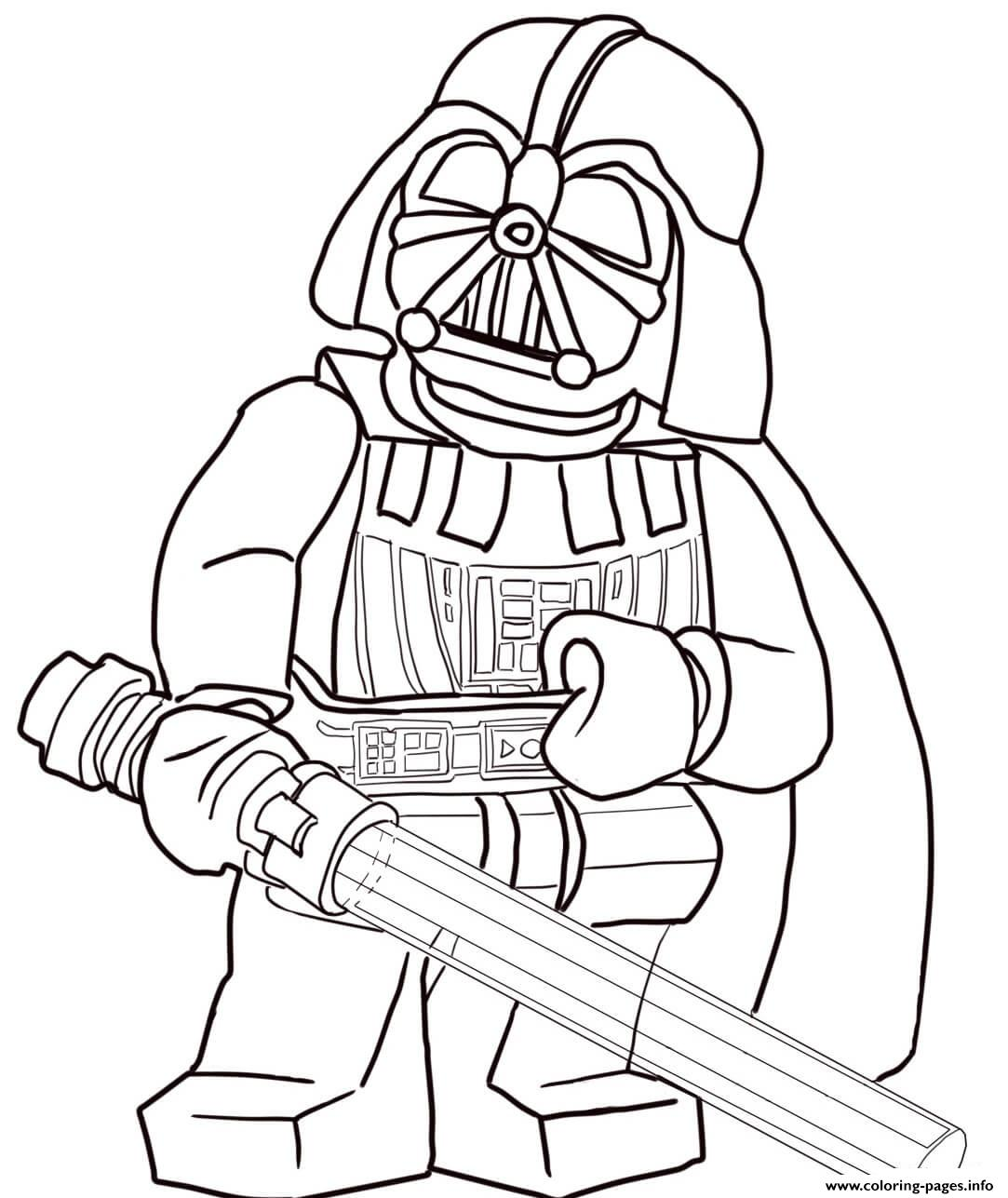 Darth Vader Christmas Coloring Pages With Lego Star Wars Printable