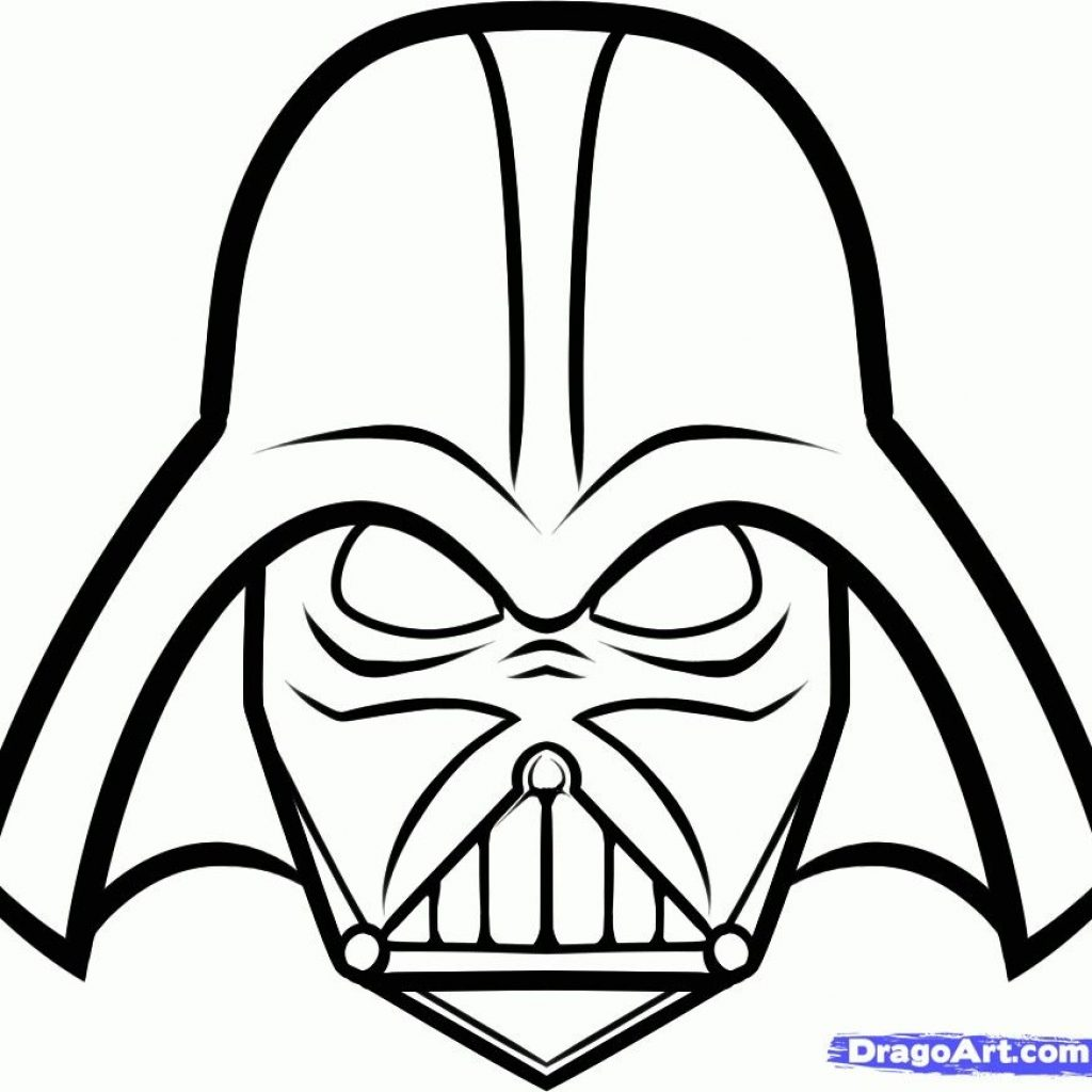 Darth Vader Christmas Coloring Pages With Printable Mask Star Wars Pinte