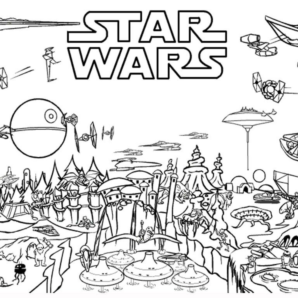 Darth Vader Christmas Coloring Pages With Star Wars Free Printable