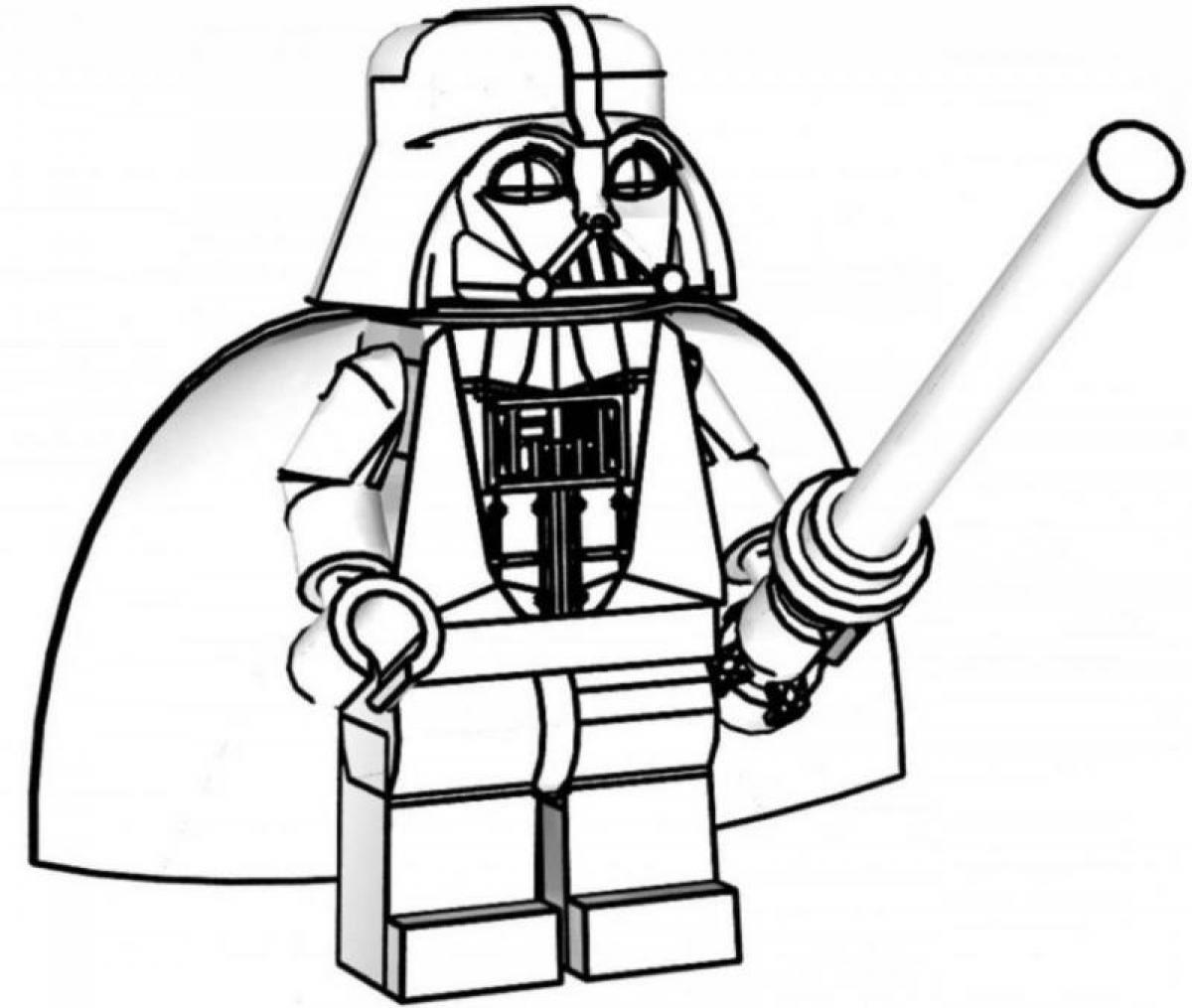Darth Vader Christmas Coloring Pages With