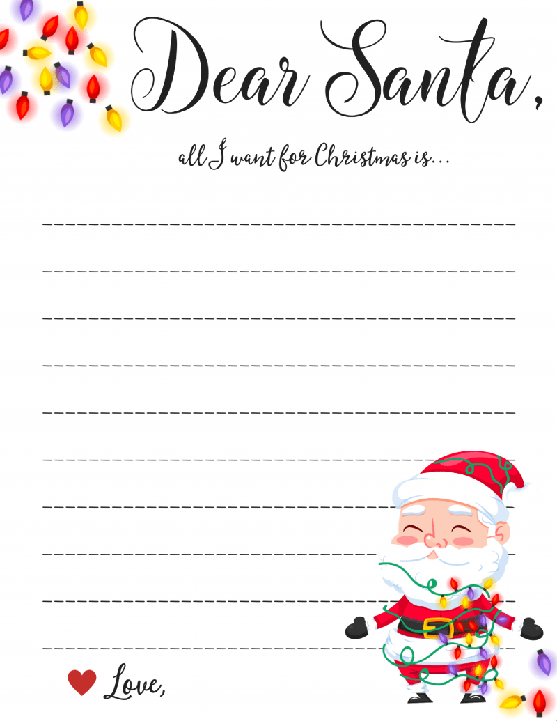 Dear Santa Coloring Pages Print With 20 Free Christmas Printables To Get Into The Spirit