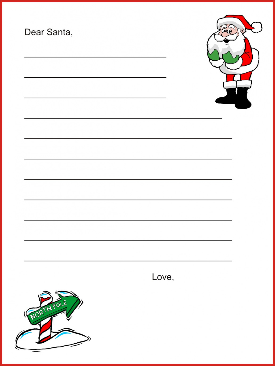 Dear Santa Coloring Pages Print With Free Download 13 Letter Template Create Your Own