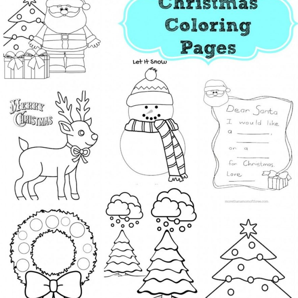 Dear Santa Coloring Pages Print With Free Kids Christmas Printables Colors