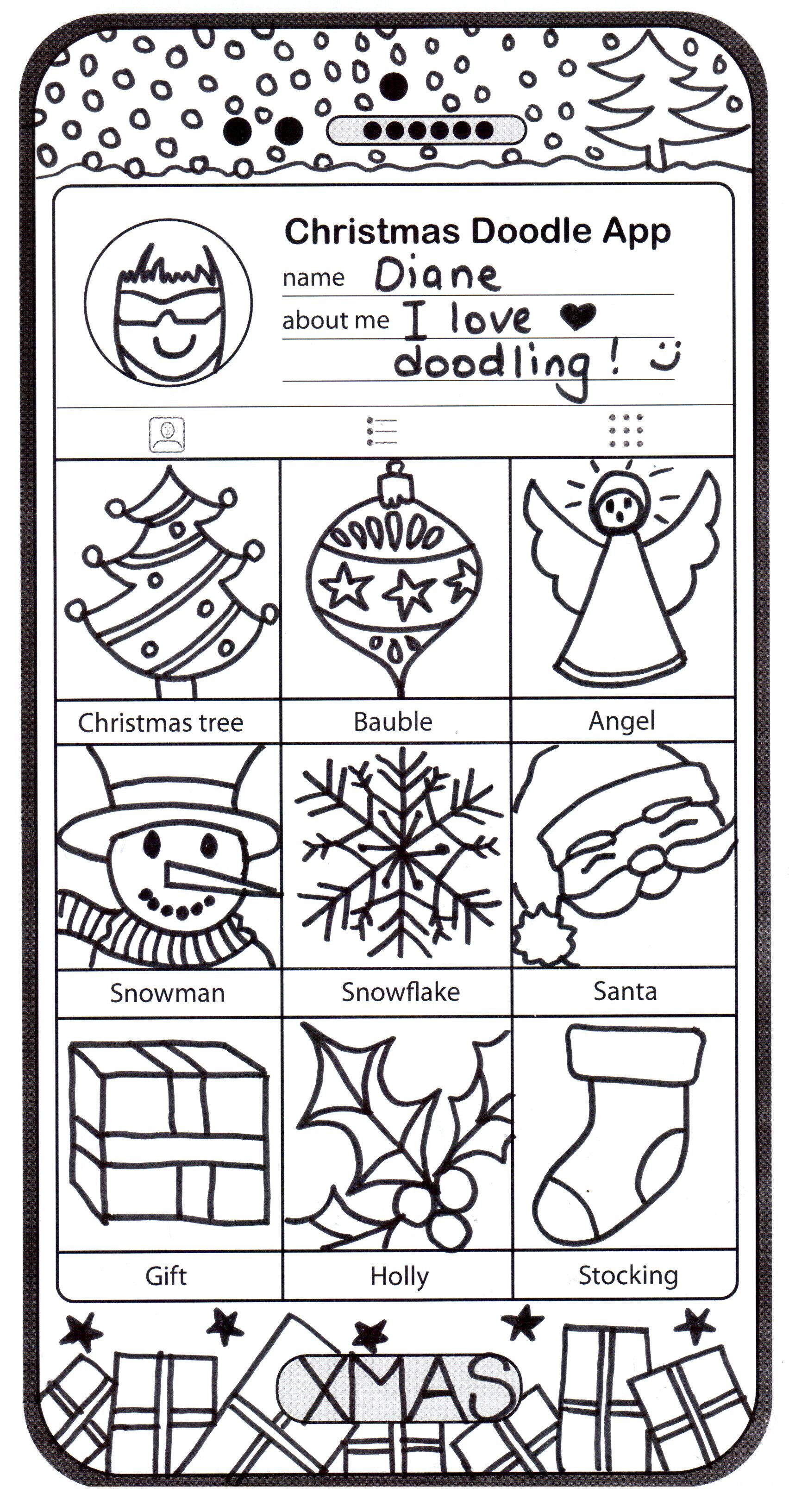 Dear Santa Coloring With Christmas Pages Art Phone