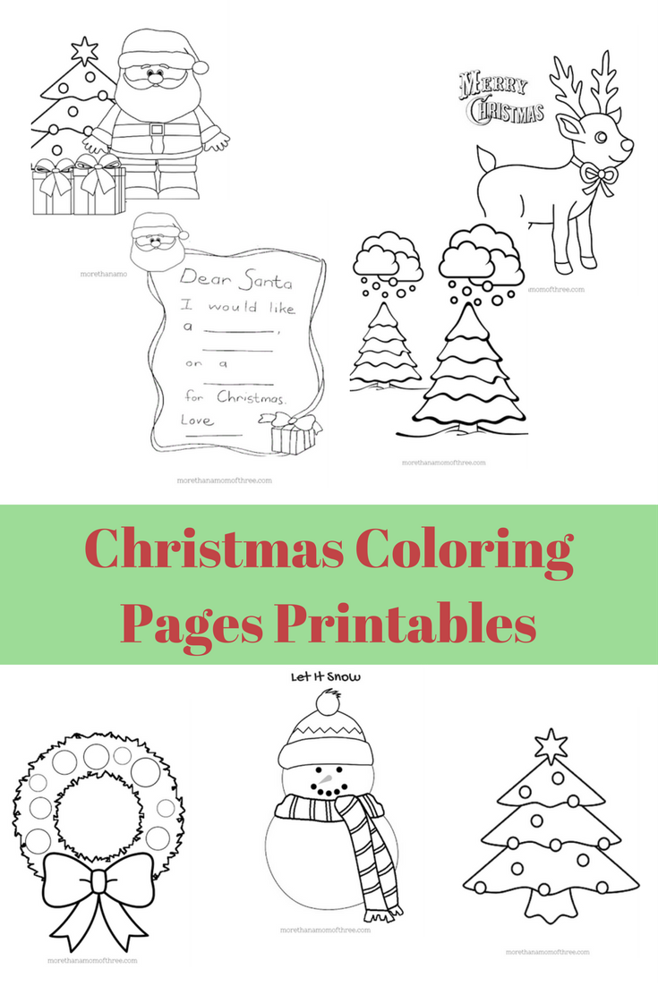 Dear Santa Coloring With Free Kids Christmas Pages Printables Pinterest