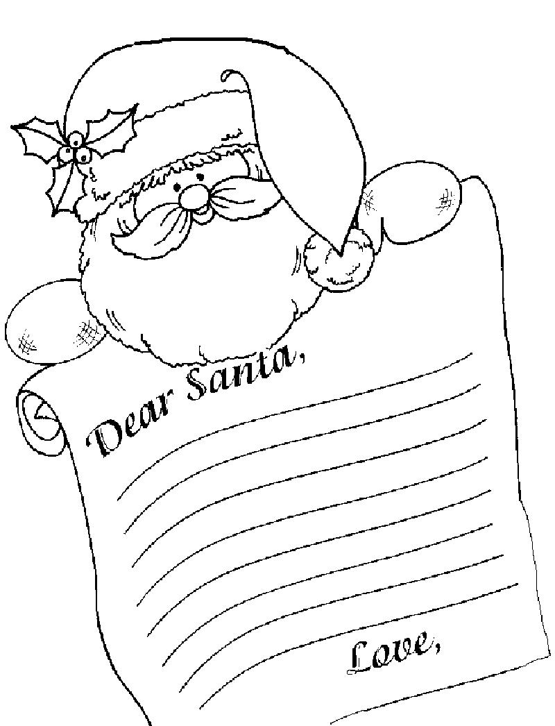 Dear Santa Coloring With Letterhead Template Invitation Templates PuX6vdRX Holidays