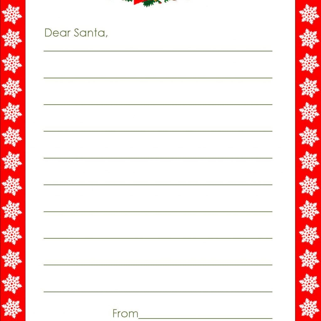 Dear Santa Letter Coloring Page With XMAS COLORING PAGES WRITE A LETTER TO SANTA WITH THESE TEMPLATES