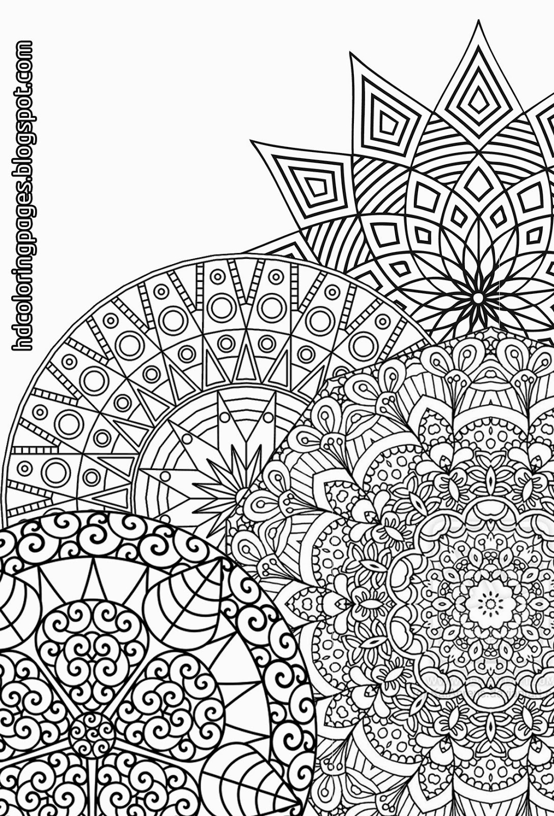 Detailed Christmas Coloring Pages For Adults With Super Mandalas Adult