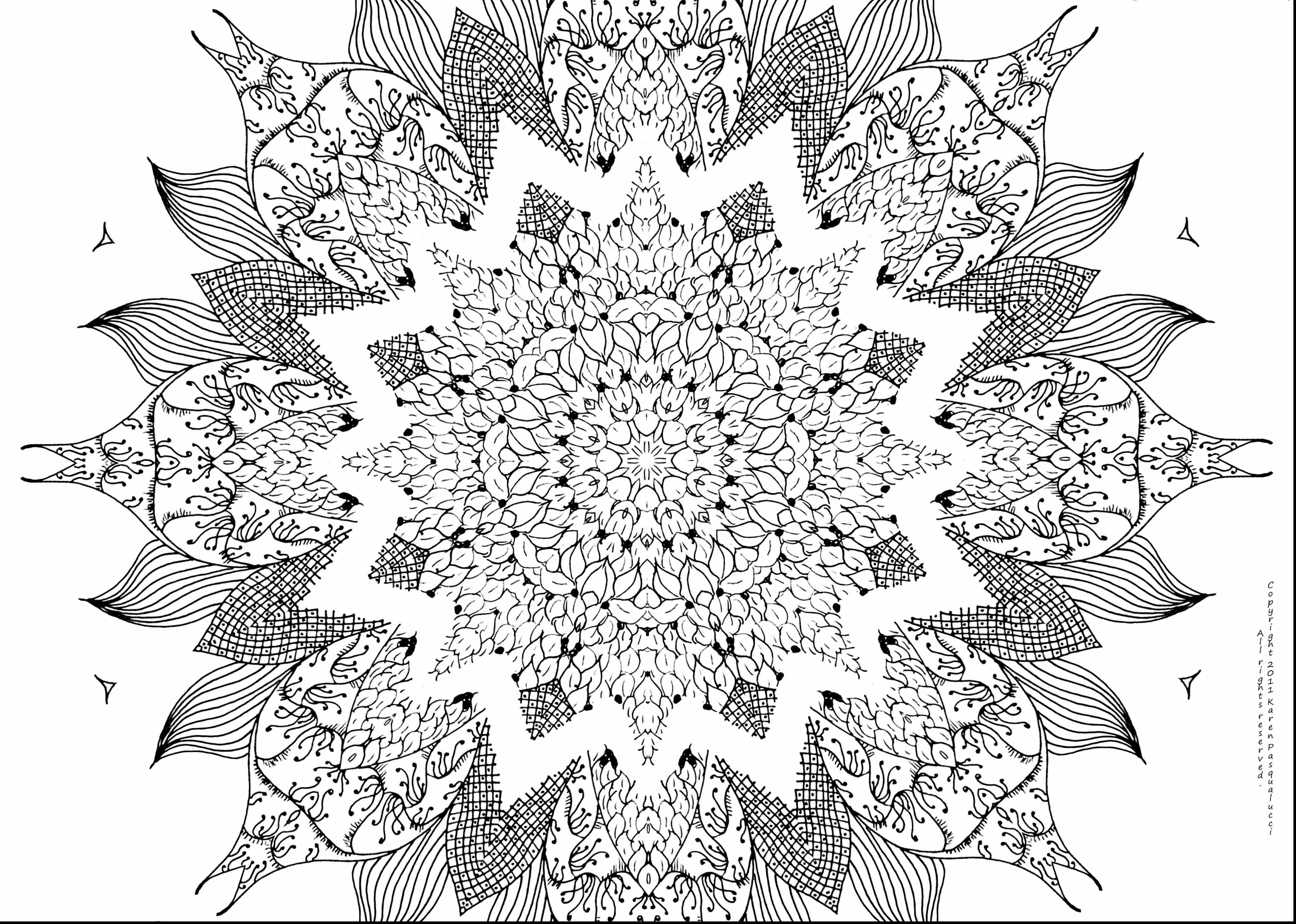 Detailed Christmas Coloring Pages Free Printable With Advanced Print Inspirational Mandala