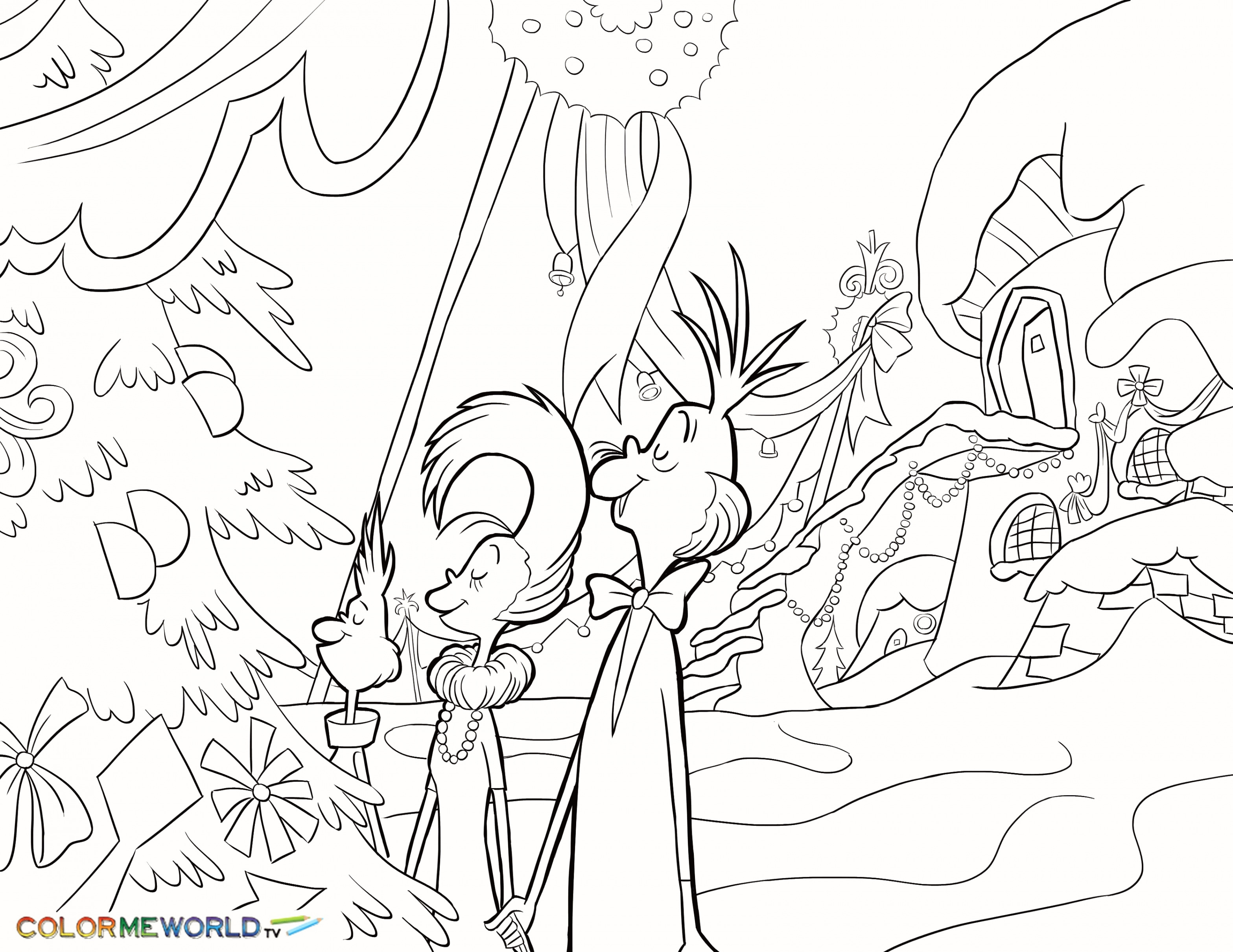 Detailed Christmas Coloring Pages Free Printable With Swordfish Page