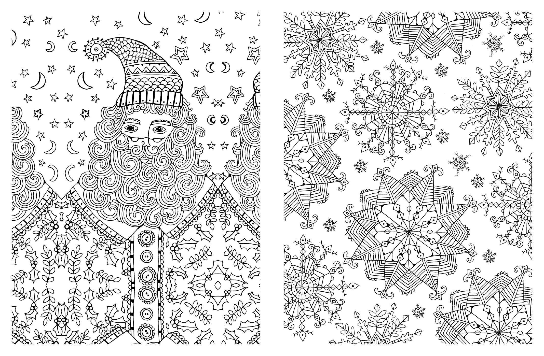 Difficult Christmas Coloring Pages For Adults With Free And