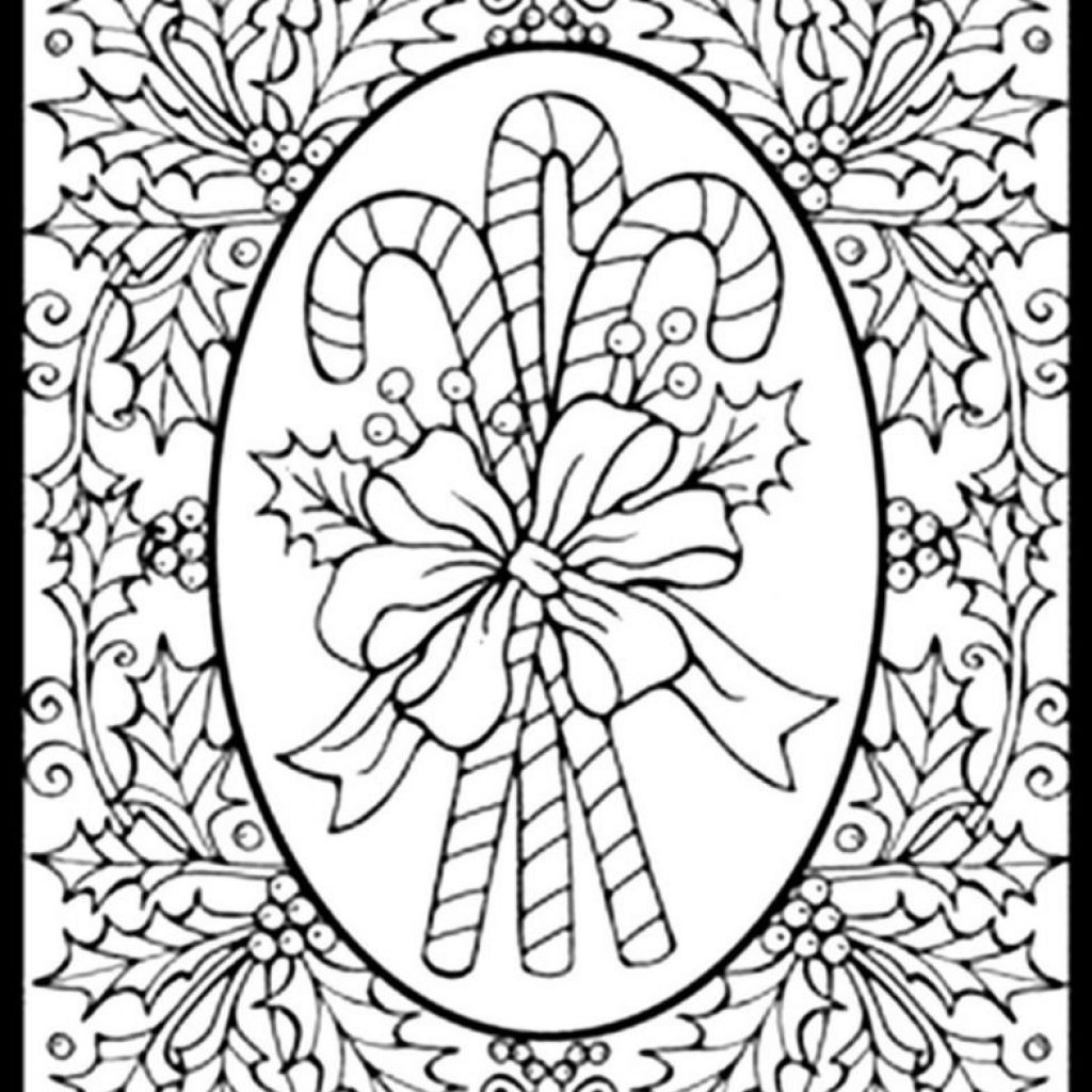 Difficult Christmas Coloring Pages For Adults With Free To Print