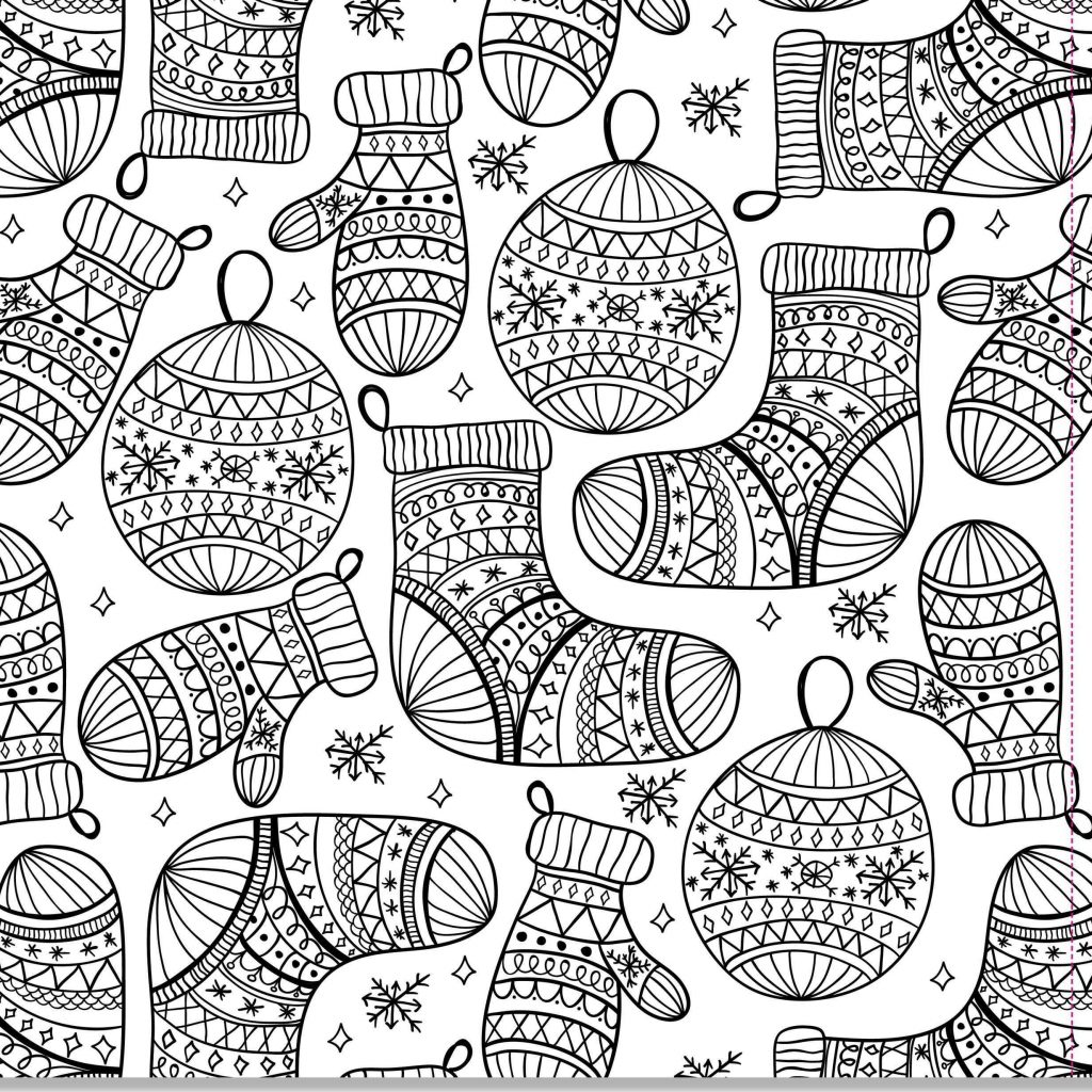 Difficult Christmas Coloring Pages For Adults With Fresh Adult