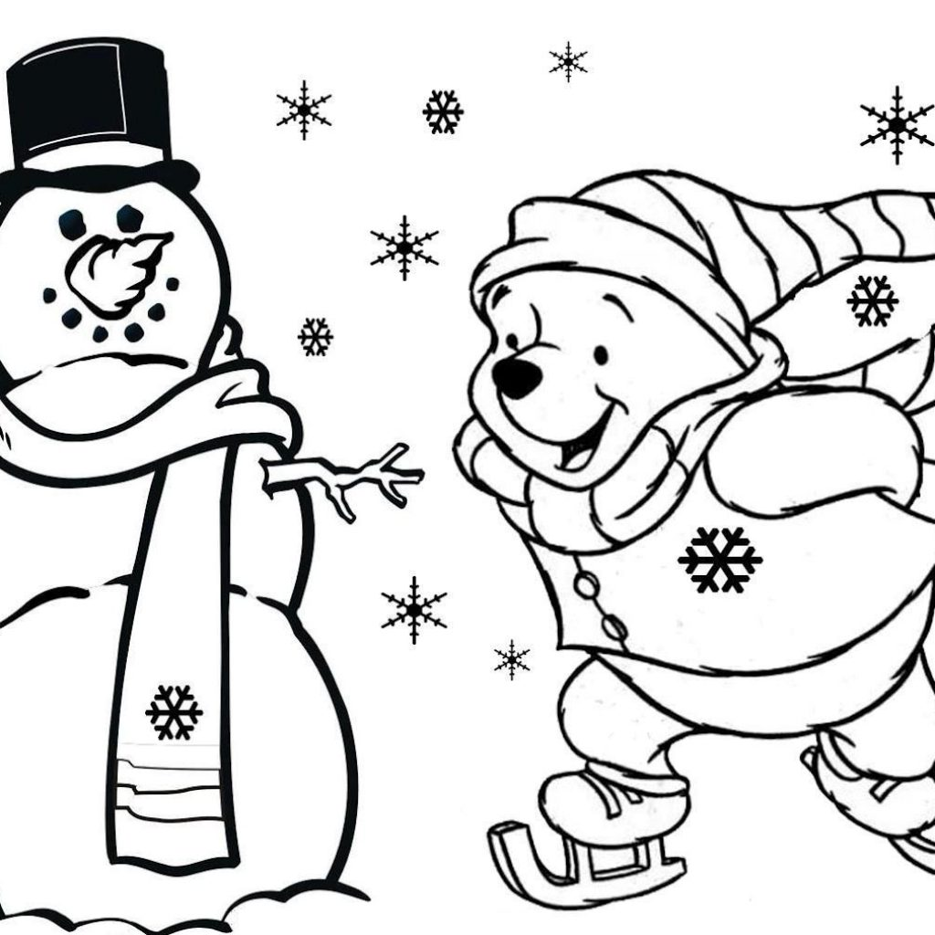 Disney Christmas Coloring Pages To Print Free With Best Quotes