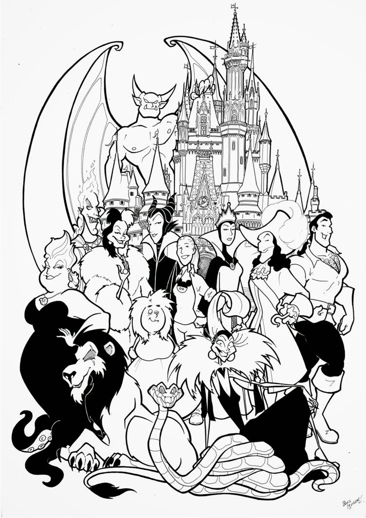 Disney Christmas Coloring Pages To Print Free With Color Printable Online 18390