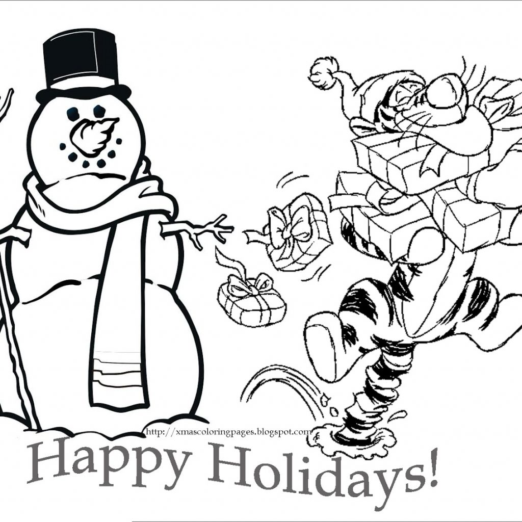 Disney Merry Christmas Coloring Pages With LETS COLORING BOOK COLOURING SHEETTIGGER DISNEY CHRISTMAS