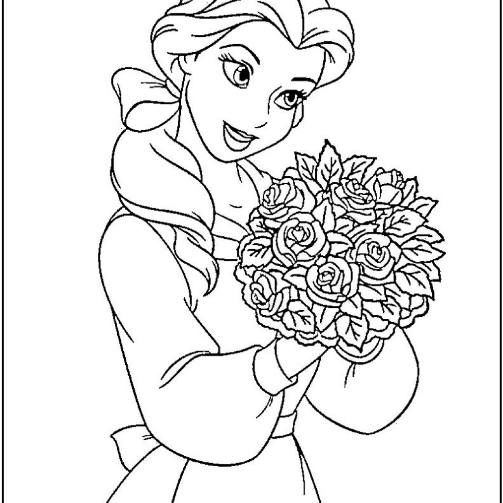 Disney Princess Christmas Coloring Pages Printable With To Print