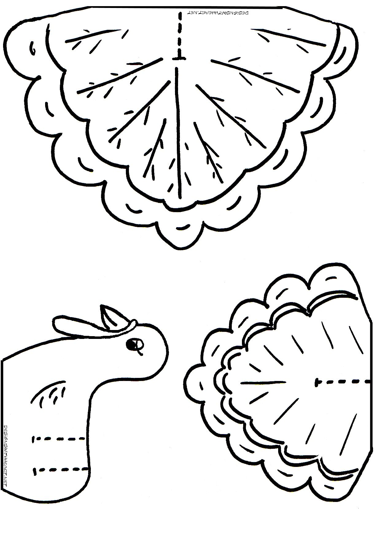 Dltk Printable Christmas Coloring Pages With Turkey Cutouts For Kids Thanksgiving Crafts
