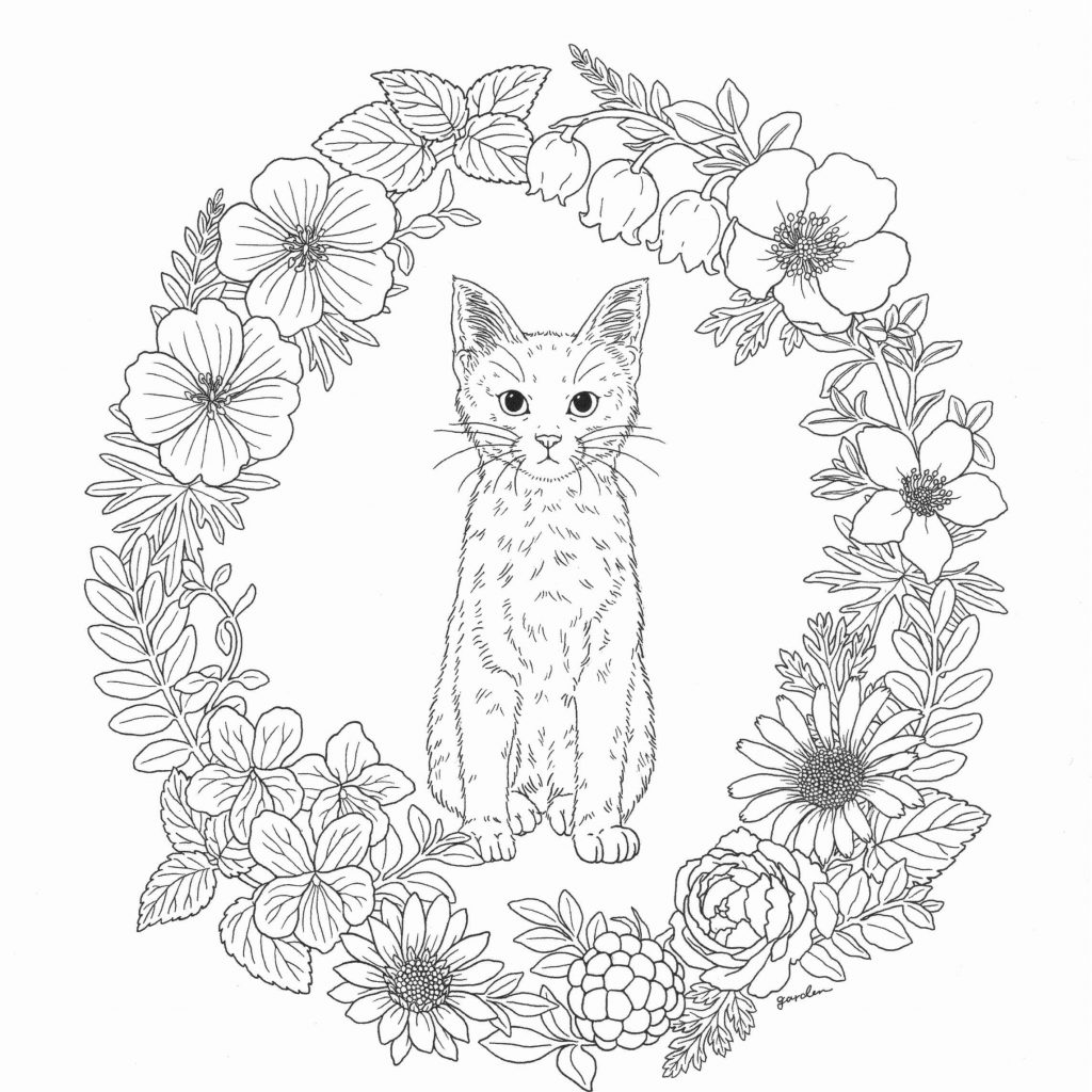 Easy Christmas Coloring Pages For Adults With Printable Page