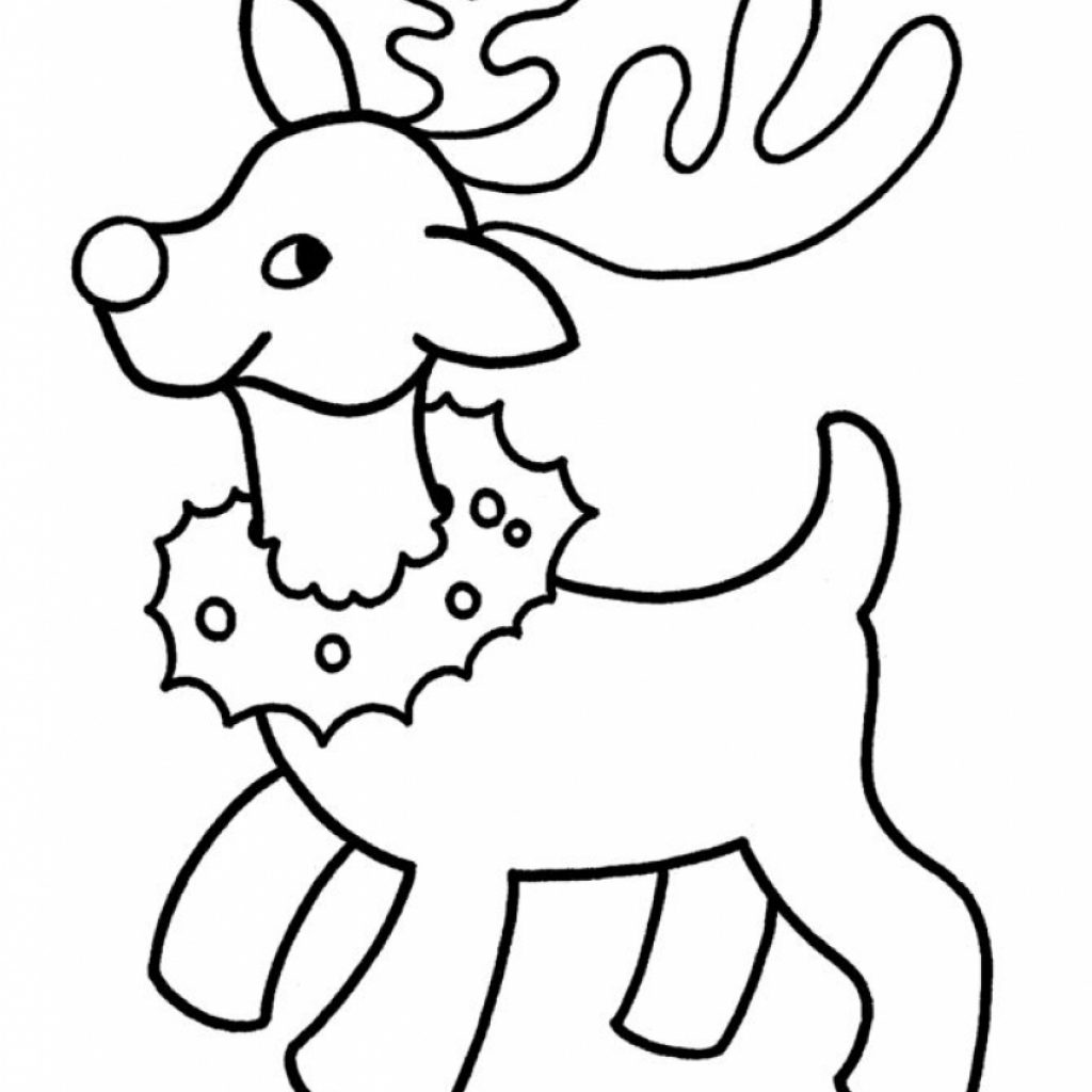 Easy Christmas Coloring Pages Printable With For Kids 2221807