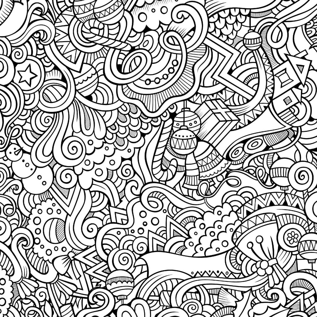 Easy Christmas Coloring Pages Printable With Free Download Adult For Small