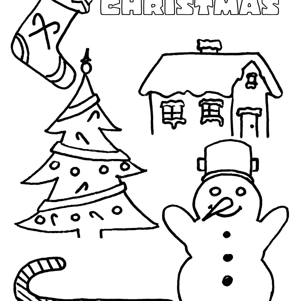 Easy Christmas Coloring Pages Printable With Party Simplicity Free Page For Kids