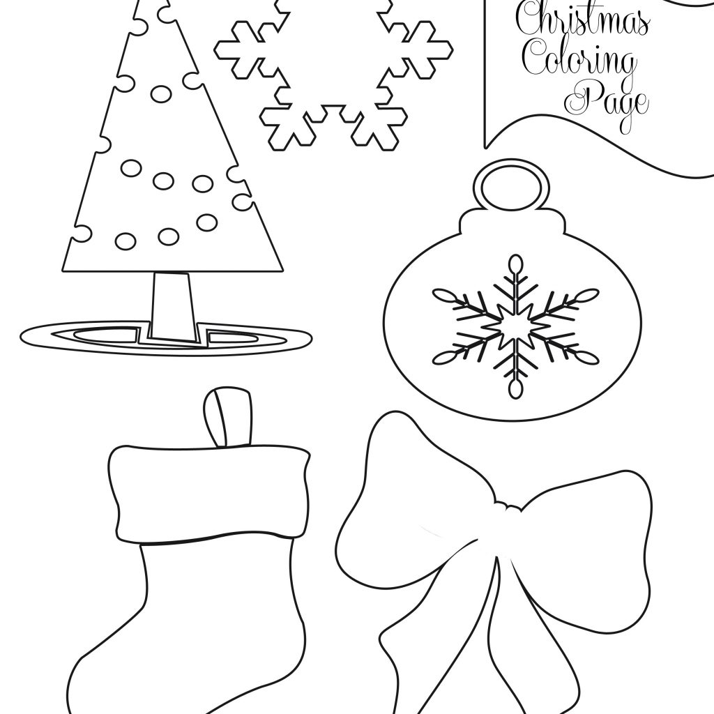 Easy Christmas Coloring Pages Printable With Party Simplicity Free To Print
