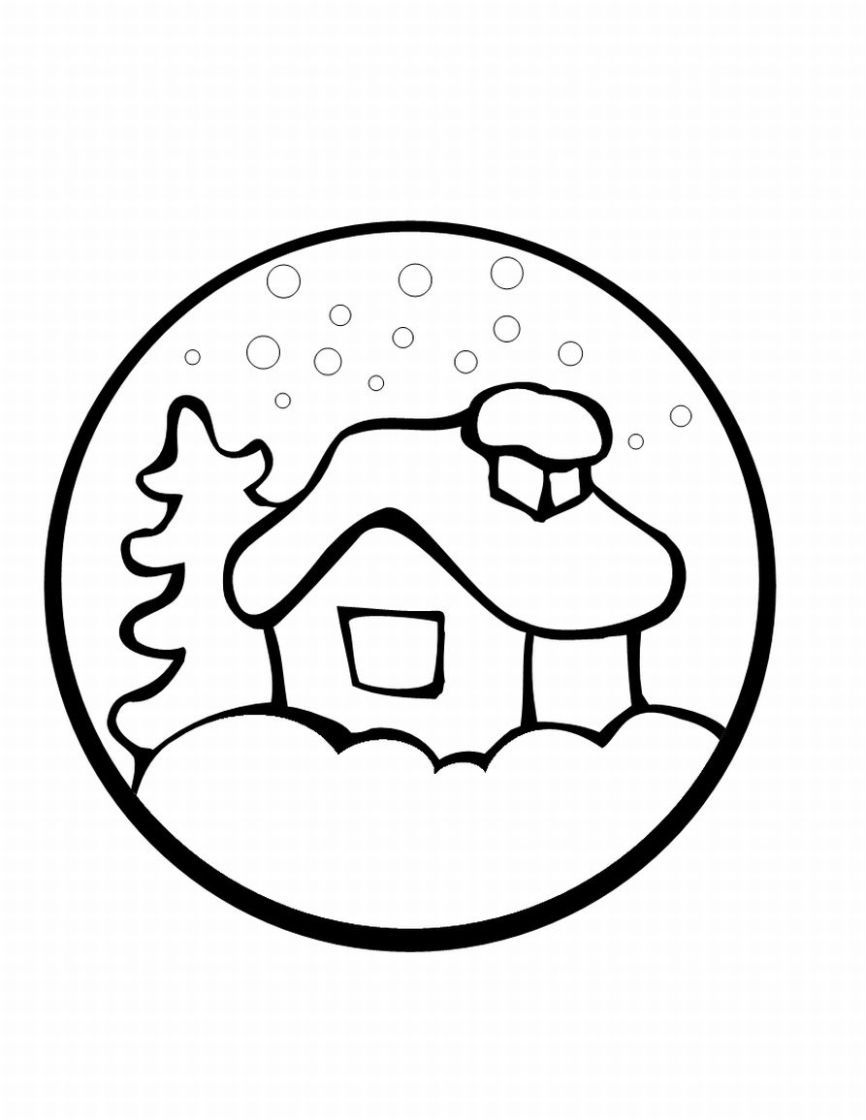 Easy Christmas Coloring Pages Printable With Preschool Learn To